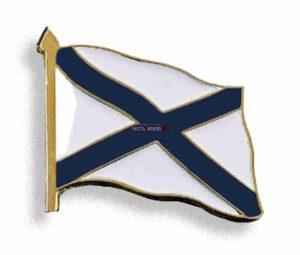 Нагрудный знак металлический Андреевский флаг на булавке