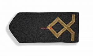 Погоны морского флота чёрные, 1 категория. (курсанты; боцман маломерного судна)