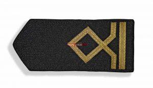 Погоны морского флота чёрные, 2 категория. (матрос II класса)