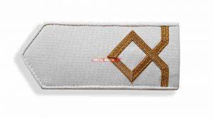 Погоны морского флота белые, 1 категория. (курсанты; боцман маломерного судна)