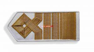 Погоны морского флота белый, 14 категория