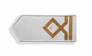 Погоны морского флота белые, 2 категория. (матрос II класса)