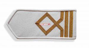Погоны морского флота белые, 3 категория. (матрос I класса; вахтенный матрос)