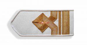 Погоны морского флота белые, 6 категория. (второй помощник капитана)
