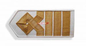 Погоны морского флота белые, 9 категория. (капитан)