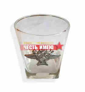 Стакан стеклянный для виски. Полиция. 0,205