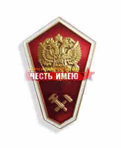 """Значок металлический """"гробик"""", средне техническое образование. (красный)"""