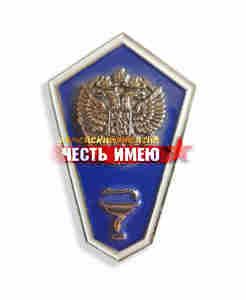 """Значок металлический """"гробик"""", средне ветеринарное образование. (синий)"""