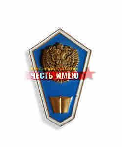 """Значок металлический """"гробик"""", средне гуманитарное образование. (голубой)"""
