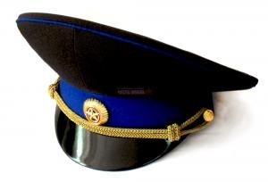 Фуражка Синя-Чёрная, ФСБ, Высокая Тулья