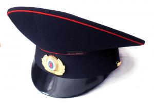Фуражка Синяя Полиция Высокая Тулья