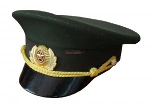Фуражка зелёная ВКС, уставная, офисная