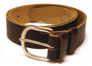 Ремень брючный, коричневый, узкий с металлической пряжкой, одношпеньковый. РПП-7/138-83-10