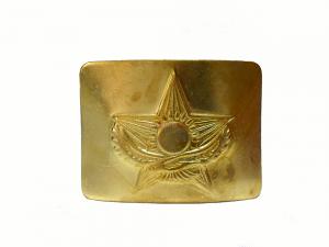 Бляха на Солдатский ремень латунная КАЗАХСТАН беркут со звездой.
