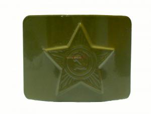 Бляха на Солдатский ремень латунная СА звезда, олива