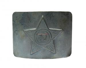 Бляха на Солдатский ремень латунная СА звезда, серая