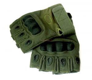 Перчатки Тактические без Пальцев, Олива.