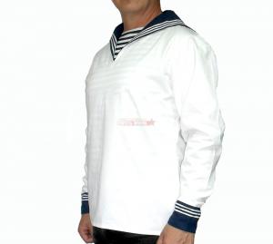 Форменка морская (фланка) белая с гюйсом, хлопок