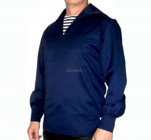 Форменка морская (фланка) синяя байка